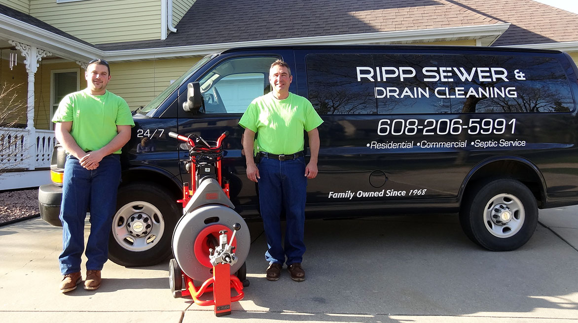 Chris and Mark Ripp of Ripp Sewer & Drain Cleaning (Middleton, WI)